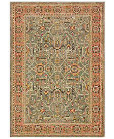 "Oriental Weavers Toscana 9537B Blue/Orange 1'10"" x 3' Area Rug"