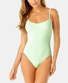 Anne Cole Studio Vintage Lingerie One-Piece Swimsuit