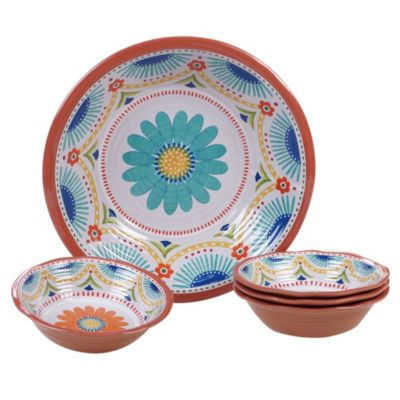Vera Cruz Melamine 5 Piece Salad/Serving Set