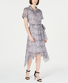 julia jordan Animal-Print Shirtdress