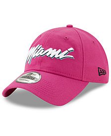 New Era Miami Heat Earned Edition 9TWENTY Strapback Cap