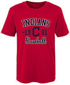 Majestic Cleveland Indians Baseball Script T-Shirt, Big Boys (8-20)