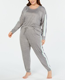 Jenni Plus Size Soft Knit Pajama Set, Created for Macy's