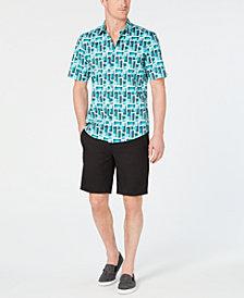 Alfani Geometric Shirt & Alfatech Shorts, Created for Macy's