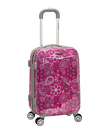 "Rockland Pink Floral 20"" Hardside Carry-On"