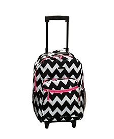 "Rockland Chevron 17"" Rolling Backpack"
