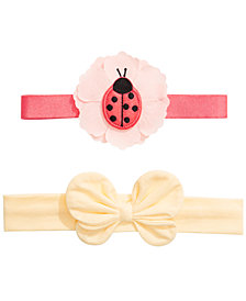First Impressions Baby Girls 2-Pack Headbands, Created for Macy's