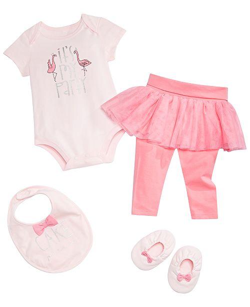 be668c18c3de5 ... First Impressions Baby Girls Birthday Bodysuit, Tutu Leggings, Bow Bib  & Bow Booties, ...