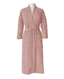 100% Turkish Cotton Pleated Robe, Large