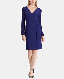 Lauren Ralph Lauren Petite Belted Jersey Dress