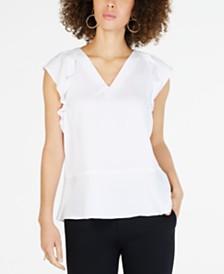 MICHAEL Michael Kors Flounce-Sleeve Top, in Regular & Petite Sizes