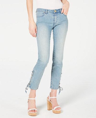 MICHAEL Michael Kors Lace-Up Skinny Jeans, Regular & Petite