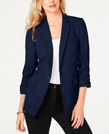 Michael Michael Kors Notch Collar One-Button Jacket