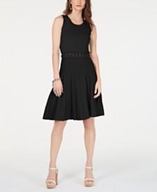 MICHAEL Michael Kors Lace-Up Textured Dress