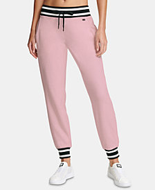 DKNY Sport Striped Velour Joggers