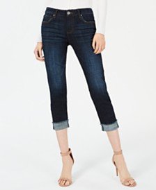 Kut from the Kloth Amy Cuffed Cropped Jeans
