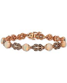 Le Vian® Neopolitan Opal (3-5/8 ct. t.w.) & Diamond (1-3/8 ct. t.w.) Bracelet in 14k Rose Gold