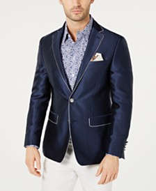 Tallia Men's Slim-Fit Dot-Print Dinner Jacket