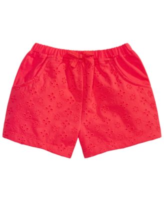 Toddler Girls Eyelet Cotton Shorts, Created for Macy's