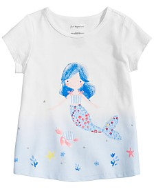 First Impressions Baby Girls Mermaid Graphic T-Shirt, Created for Macy's