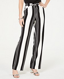 INC Nolita-Stripe Wide-Leg Pants, Created for Macy's