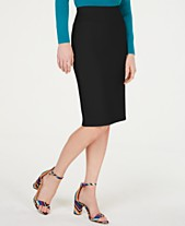 7df2eaec5b5 I.N.C. Solid Scuba Pencil Skirt