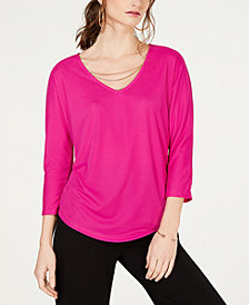 I.N.C. Chain-Detail Dolman Top, Created for Macy's
