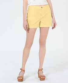 Maison Jules Flat-Front Chino Shorts, Created for Macy's