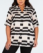 577218a275 Calvin Klein Plus Size Clothing - Dresses   Tops - Macy s