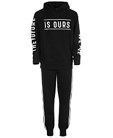 Ideology Big Boys Future-Print Hoodie & Jogger Pants, Created for Macy's