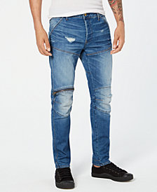 G-Star Raw Men's 5620 Zip Knee Fitted Ripped Jeans, Created for Macy's