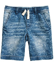 Epic Threads Little Boys Dino-Print Denim Shorts