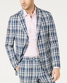 Lauren Ralph Lauren Men's Classic-Fit UltraFlex Stretch Madras Plaid Suit Jacket