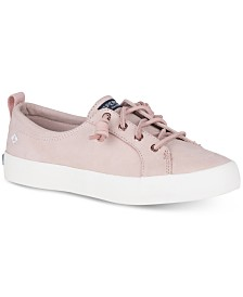 Sperry Women's Crest Vibe Memory-Foam Lace-Up Fashion Sneakers, Created for Macy's