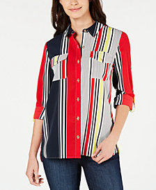 Tommy Hilfiger Windjammer Striped Shirt, Created for Macy's