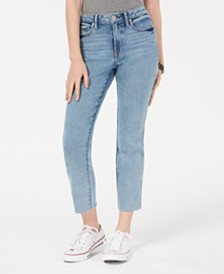 American Rag Juniors' Straight-Leg High-Rise Ankle Jeans, Created for Macy's