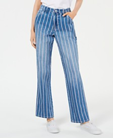 Dickies Striped High-Rise Carpenter Jeans