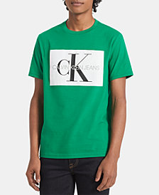 Calvin Klein Jeans Men's Monogram Logo-Print T-Shirt, Created for Macy's