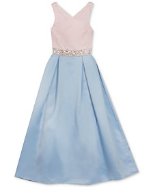 Rare Editions Big Girls Embellished Colorblocked Dress