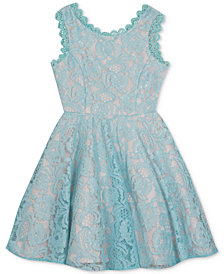Rare Editions Big Girls Lace Fit & Flare Dress, Created for Macy's