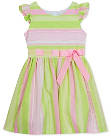 Rare Editions Big Girls Striped Linen Dress