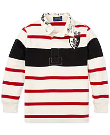 Polo Ralph Lauren Big Boys Striped Cotton Rugby Shirt