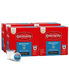 Breakfast Blend Medium Roast Single Serve Pods, Keurig K-Cup Brewer Compatible, 72 Ct