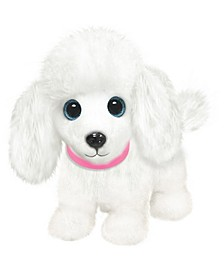 First and Main - Wuffles Poodle  Plush Dog, 7 Inches Sitting