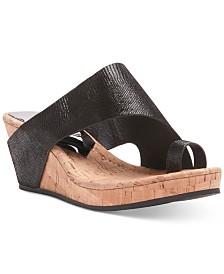 bedefe9c865861 Donald Pliner Gyer Wedge Sandals