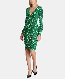 Lauren Ralph Lauren Petite Floral-Print Jersey Dress