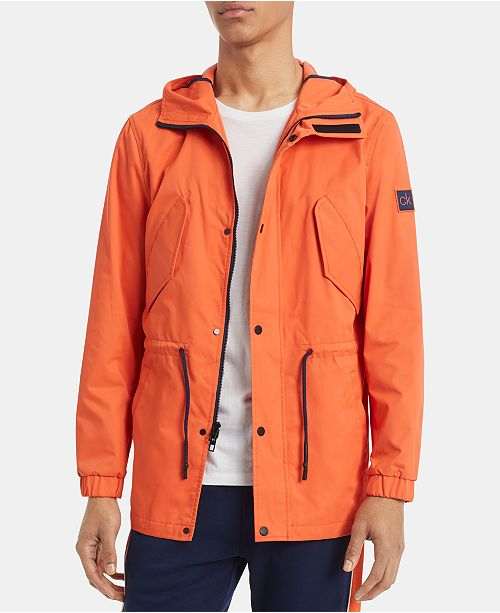 Calvin Klein Men's 3/4 Length Hooded Driver Jacket