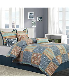 Amias Reversible 7-Piece California King Comforter Set