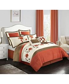 Mackenzie 8-Piece Comforter Set, Terracotta, Queen
