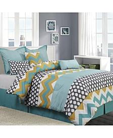 Nolan Reversible 7-Piece California King Comforter Set